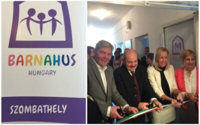 Cutting ribbons in Hungary